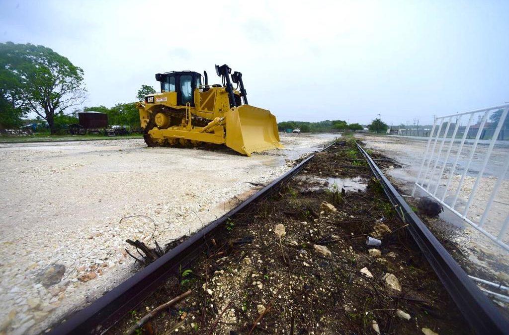 Comienzan obras del Tren Maya en Campeche