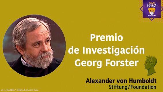 Historiador mexicano gana premio Georg Forster