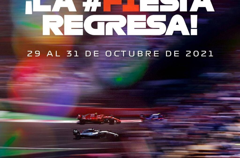 F1 anuncia que el Gran Premio de México será del 29 al 31 de octubre de 2021