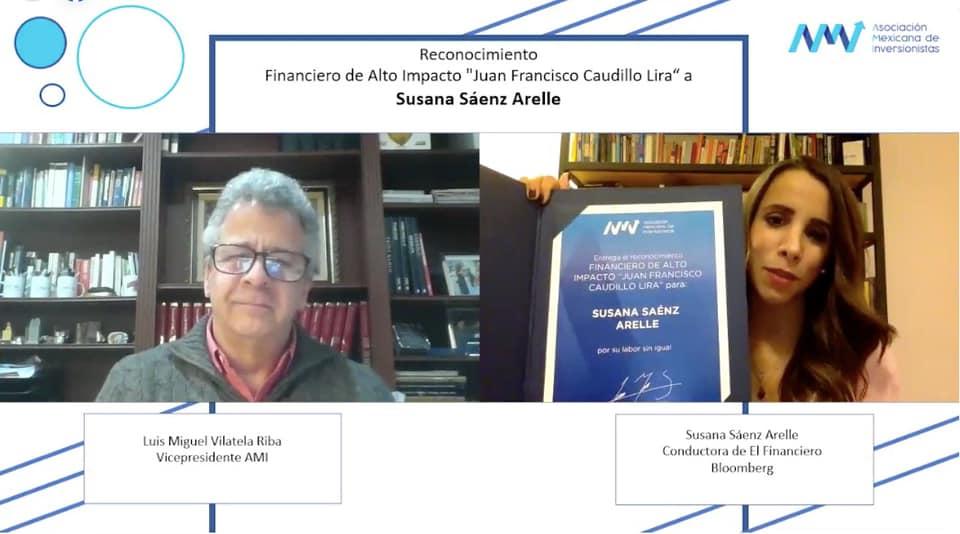 Susana Sáenz recibe reconocimiento Financiero de Alto Impacto