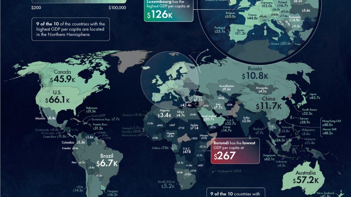 México, lugar 79 de 193 países en PIB per cápita