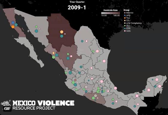 Lanzan mapa de organizaciones criminales en México